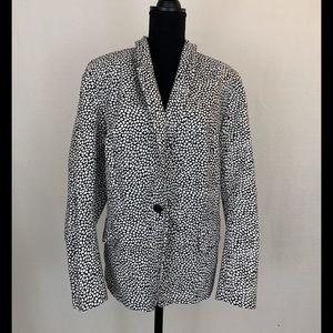 Lane Bryant Black & White Print Blazer Size 26